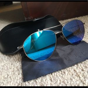 34d44e773080e Diff Eyewear Accessories - DIFF eyewear Scout Blue aviator style sunglasses